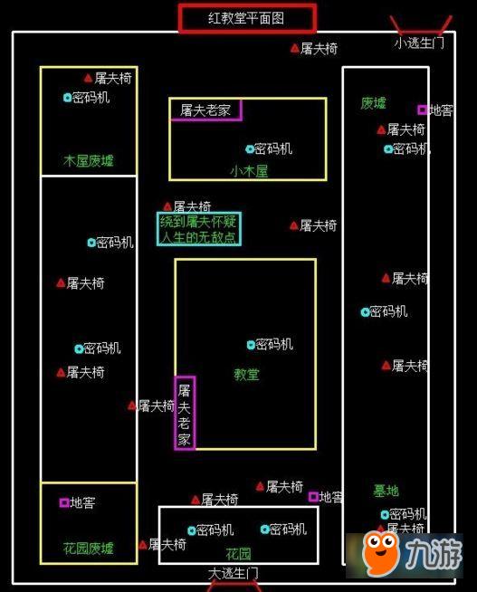 第五人格逃生门在哪 工厂/医院/红教堂逃生门位置