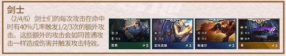 《云顶之弈手游》S2上分阵容推荐:剑士阵容上分攻略