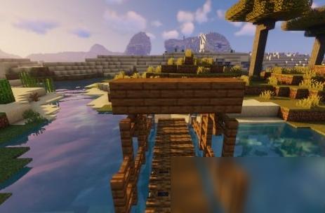 《我的世界》自然小桥建造流程