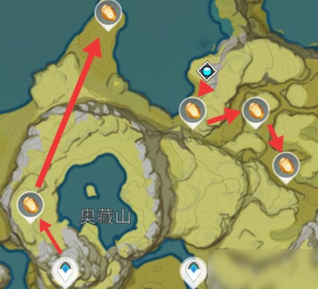 《原神》石珀采集路线图分享