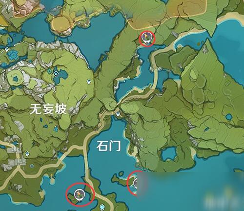 《原神》金鱼草位置分布图