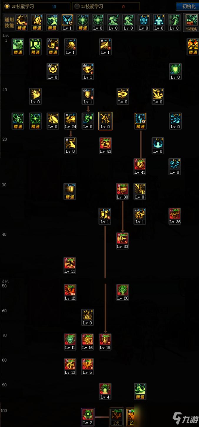 地下城精灵骑士技能栏图片