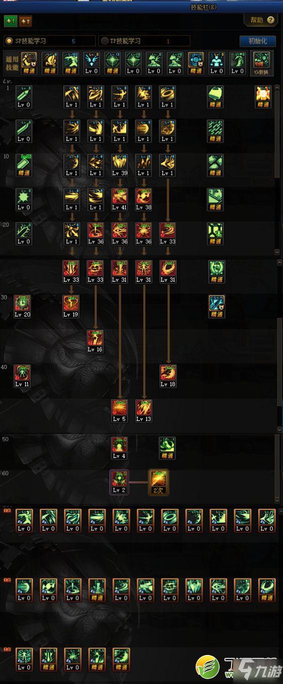 DNF100级黑暗武士刷图加点攻略