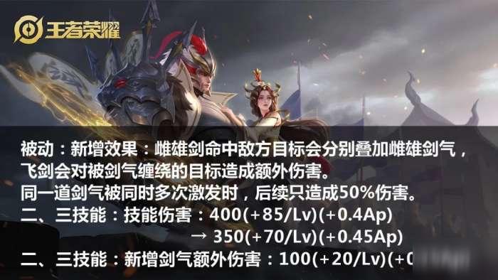 王者荣耀S20赛季干将加强了吗_干将莫邪新增剑气出装玩法介绍