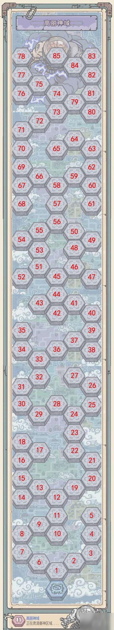 最强蜗牛高丽神域怎么打 新玩法探索路线图打法详解