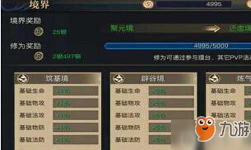 青丘狐传说手游境界系统攻略 系统详细介绍