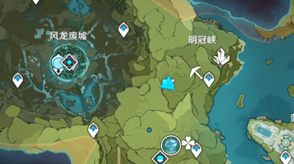 原神明冠峡隐藏宝藏位置分享