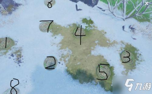 原神手游雪山八个圆盘点亮顺序介绍