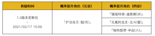 原神手游1.3烟火之邀祈愿活动玩法介绍