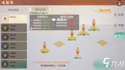 梦想新大陆影舞阵法搭配推荐 影舞用什么阵法?